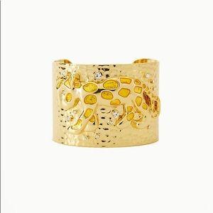 NEW Lilly Pulitzer Gold Cuff Cheetah Bracelet